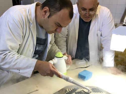 konzervacija i restauracija dva fragmenta u saradnji sa restauratorima iz Opificio Delle Pietre Dure