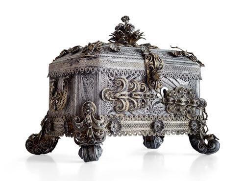 Odjeljenje za etnologiju, kutija za nakit, 19. stoljeće, 19. vijek, filigran
