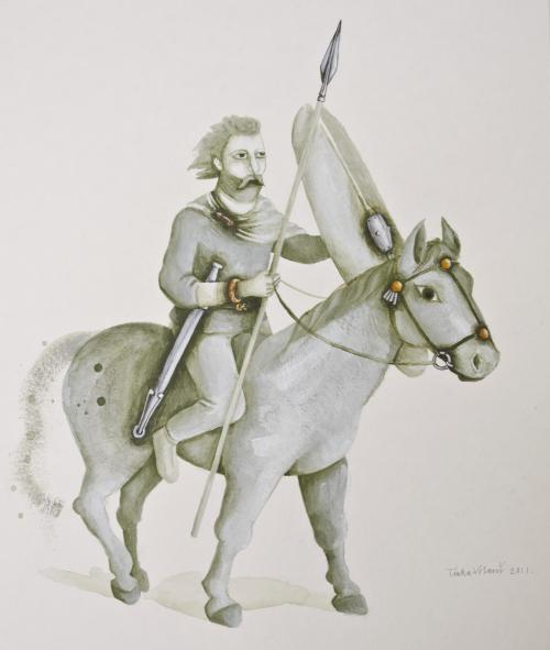 Rekonstrukcija konjanika iz Kobarida